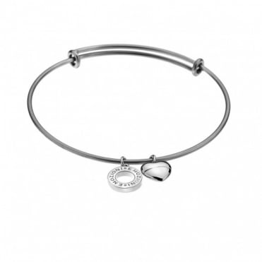 Emozioni Silver Plate Bangle Large DC127