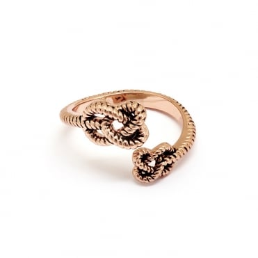 Endless Knot Gold Plated Ring CRRT0510AR