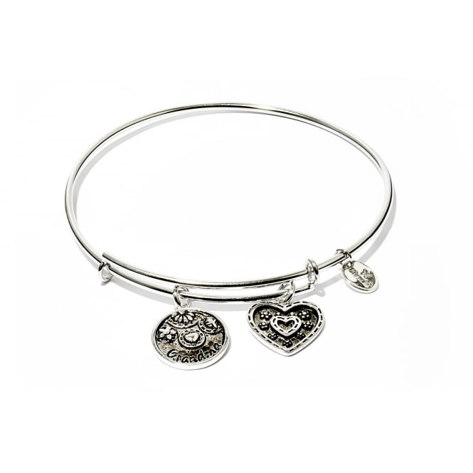 Family & Friends Grandma Rhodium Plated Bangle CRBT0708SP