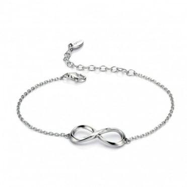 Fiorelli Silver Figure of 8 Bracelet B4538