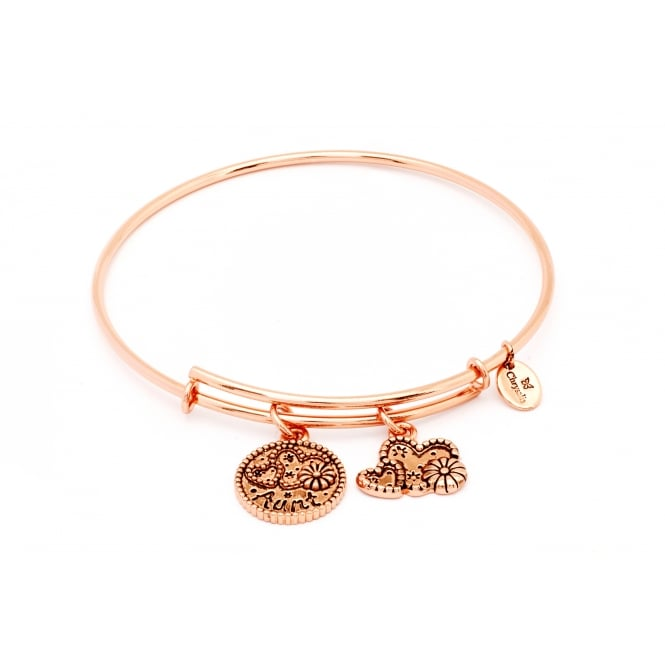 Friend & Family Aunt Rose Gold Plated Bangle CRBT0706RG