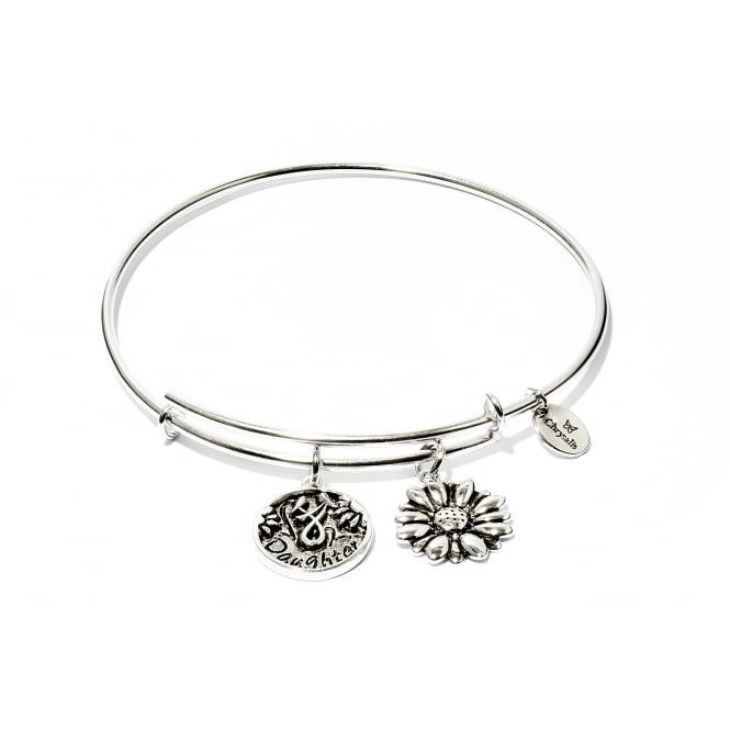 Friend & Family Daughter Rhodium Plated Bangle CRBT0702SP
