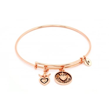 Friend & Family Frienship Rose Gold Plated Bangle CRBT0704RG