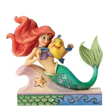 Fun and Friends - Ariel with Flounder Figurine 4054274