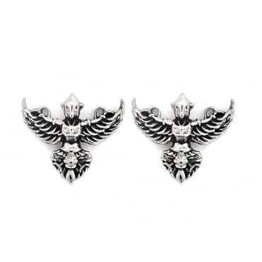 Garuda Rhodium Plated Earrings CRET0403AS