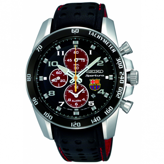 Seiko Gents Barcelona Sportura Chronograph Watch SNAE75P1