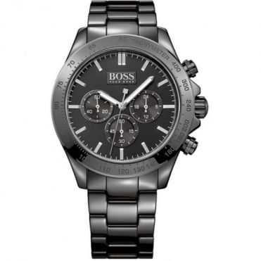 Hugo Boss Gent's Black Ceramic Ikon Chronograph Watch 1513197