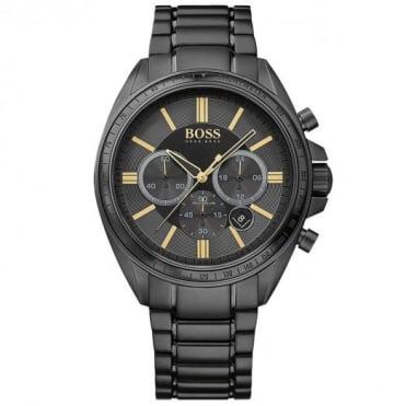 Hugo Boss Gents Black Diver Chrono Watch 1513277