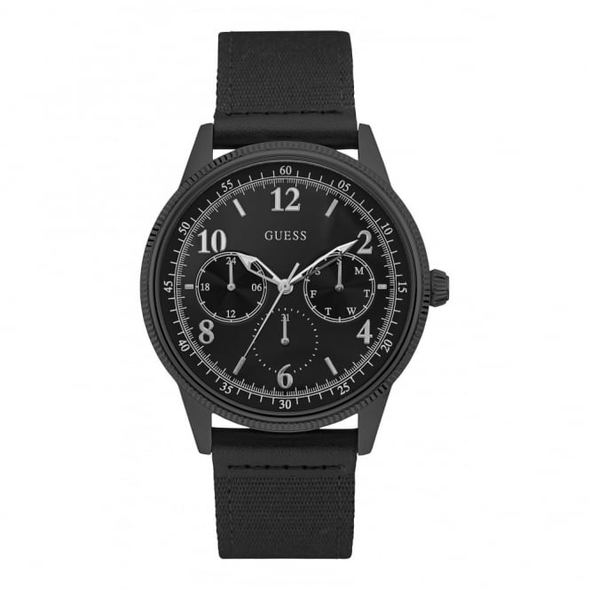 Guess Gent's Black Ion Plate Aviator Watch W0863G3