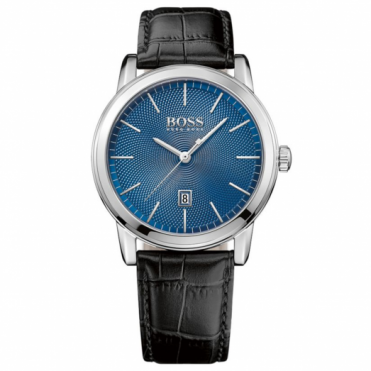 Hugo Boss Gent's Black Leather Strap Classic Watch 1513400