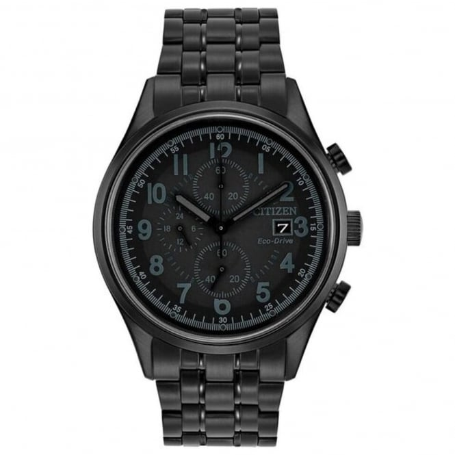 Gent's Black PVD Chronograph Eco-Drive Watch CA0625-55E