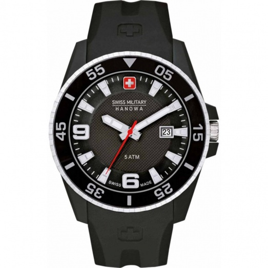 Swiss Military Gents Black Rubber Ranger Watch 6-4200.27.007.07