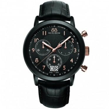 88 Rue Du Rhone Gents' Black S/Steel Chronograph Watch 87WA130023