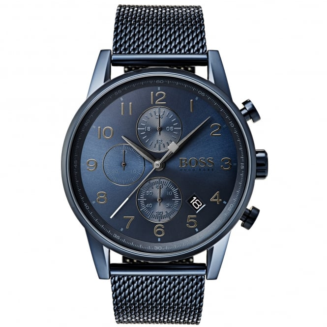 Gent's Blue PVD Navigator Chrono Watch 1513538