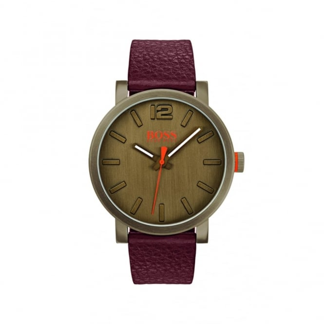 Gents Brown Leather Bilbao Watch 1550036