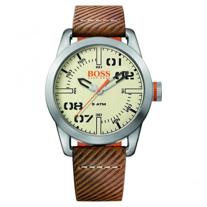 Gent's Brown Leather Oslo Watch 1513418
