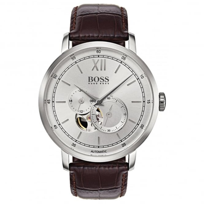 Gent's Brown Leather Signature Automatic Watch 1513505