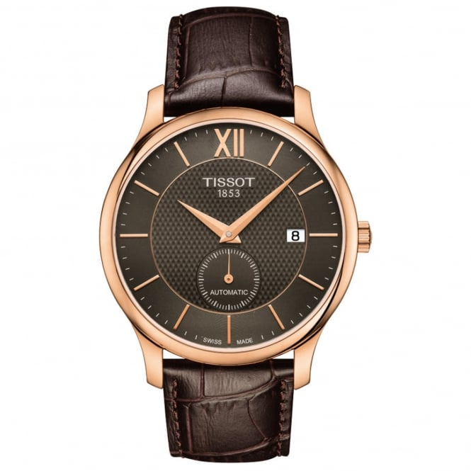 Gent's Brown Leather Tradtion Automatic Watch T0634283606800