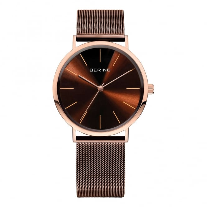 Gents' Classic Rose Gold & Brown Watch 13436-265