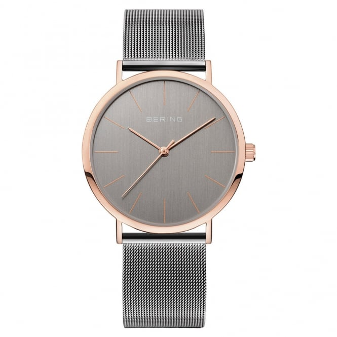 Gents' Classic Rose Gold & S/Steel Watch 13436-369