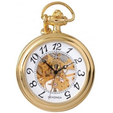 Gents' Gold Plated Pocket Watch 1110