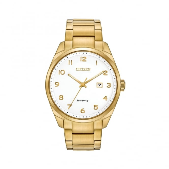 Citizen Gent's Gold Tone Steel Eco-Drive Watch BM7322-81B
