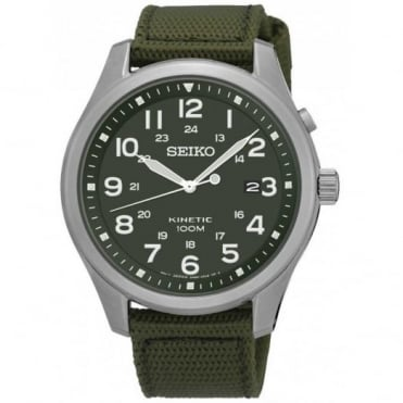 Gent's Green Fabric Kinetic Watch SKA725P1