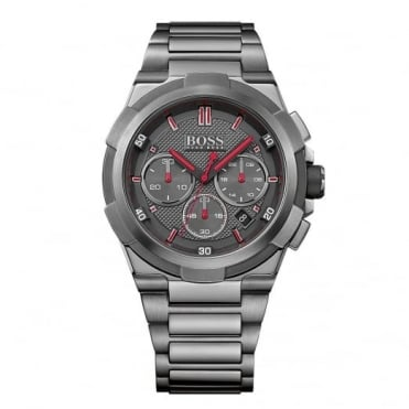 Hugo Boss Gent's Gun Metal Supernova Chrono Watch 1513361