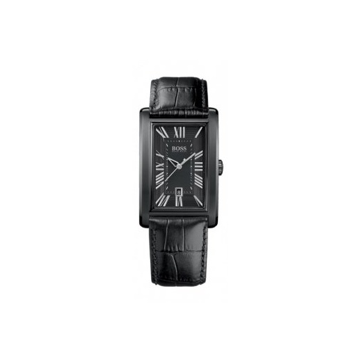 Hugo Boss Gent's Ion Plated Steel Leather Strap Watch 1512709