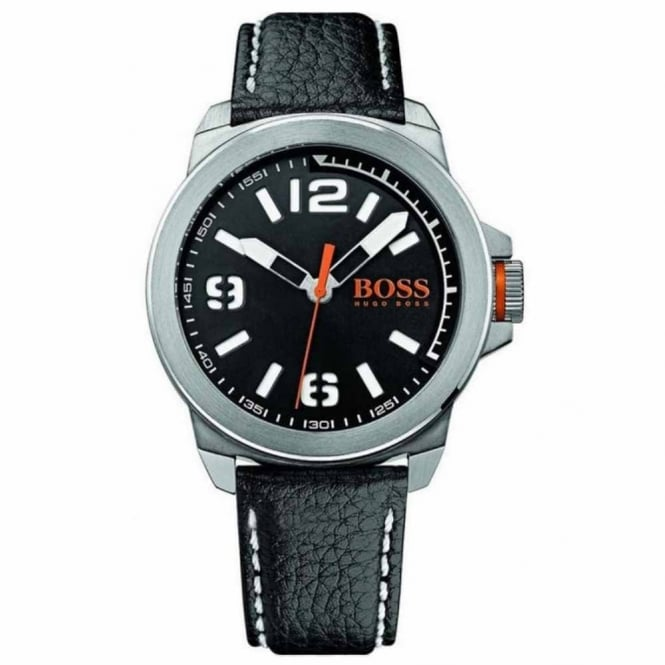 Gents' New York Black Leather Watch 1513151