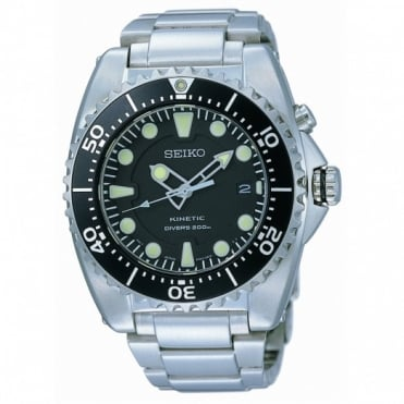 Seiko Gents Prospex S/Steel Kinetic Diver Watch SKA371P1