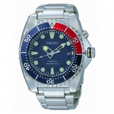 Seiko Gents Prospex S/Steel Kinetic Divers Watch SKA369P1