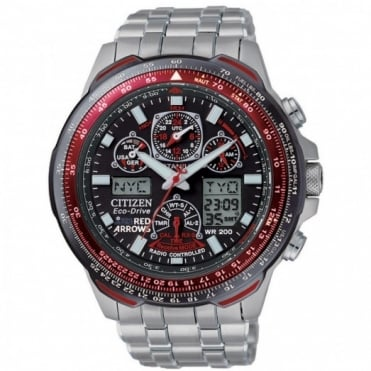 Citizen Gents Red Arrows Skyhawk Radio Controlled Eco-Drive Watch JY0110-55E