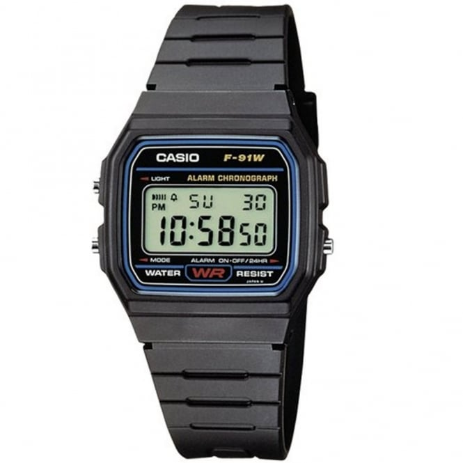 Casio Gent's Resin Watch F-91W-1YER