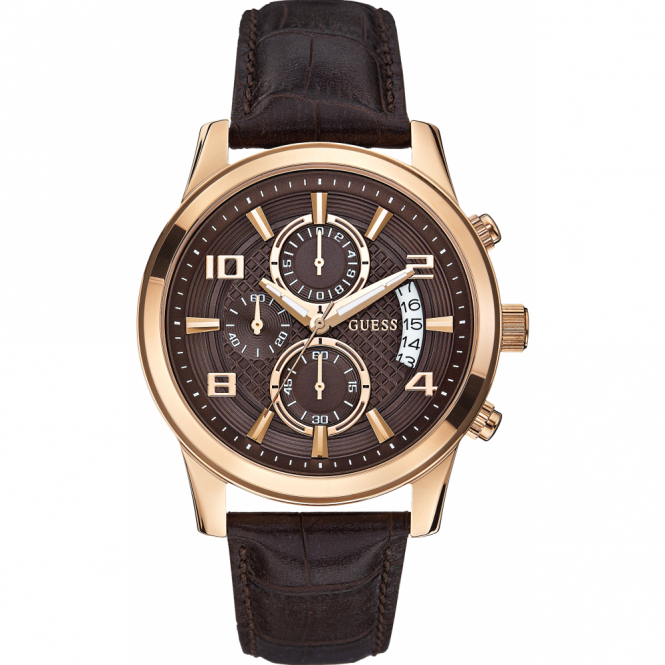 Guess Gent's Rose Plate Exec Chronograph Watch W0076G4