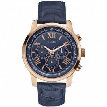 Gents Rose Plate Horizon Chronograph Watch W0380G5