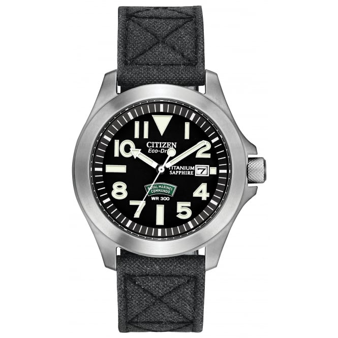 Gents Royal Marines Commando Eco-Drive Watch BN0110-06E