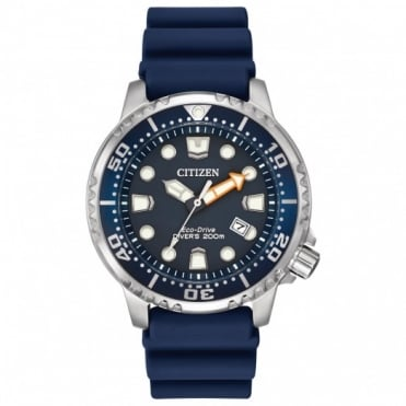 Gents Rubber Strap Promaster Divers Eco-Drive Watch BN0151-09L