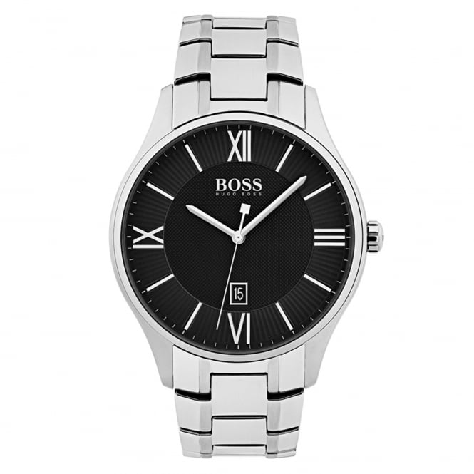 Gent's S/Steel Black Dial Governor Watch 1513488