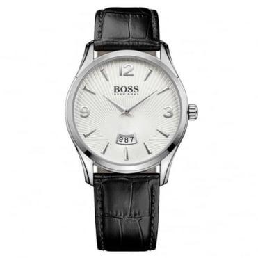 Hugo Boss Gent's S/Steel Black Leather Commander Watch 1513449