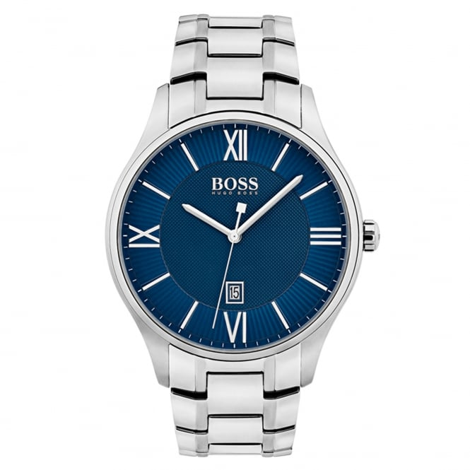 Gent's S/Steel Blue Dial Governor Watch 1513487