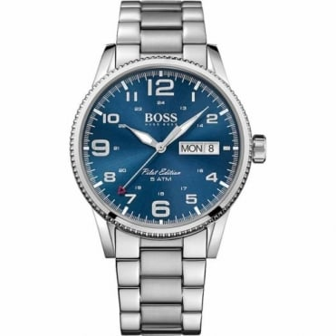 Hugo Boss Gent's S/Steel Blue Dial Pilot Watch 1513329