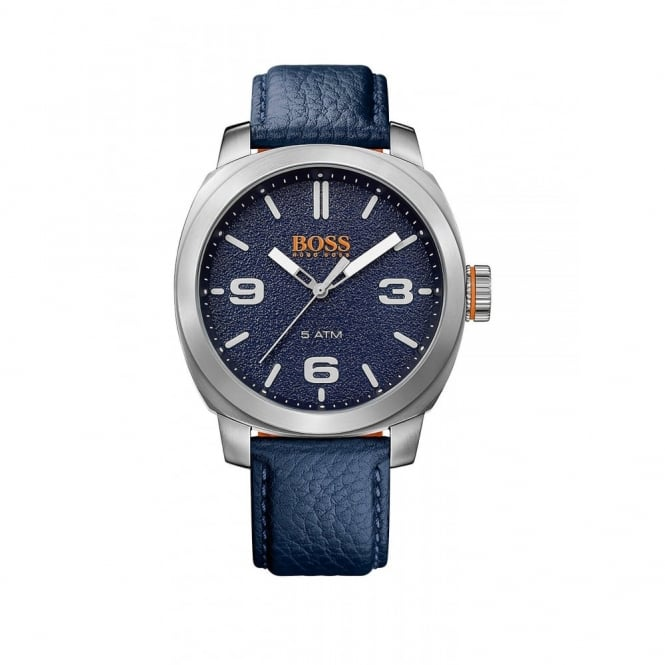 Gent's S/Steel Blue Leather Cape Town Watch 1513410