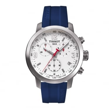 Gent's S/Steel Blue Rubber PRC200 6 Nations Watch T0554171701701