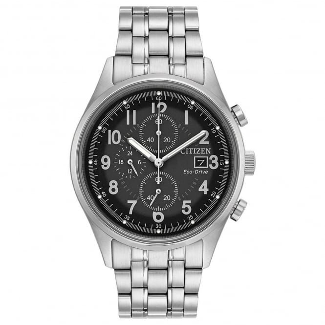Gent's S/Steel Chronograph Eco-Drive Watch CA0620-59H