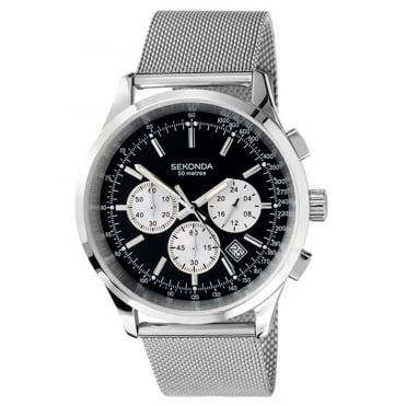 Gent's S/Steel Chronograph Watch 3415