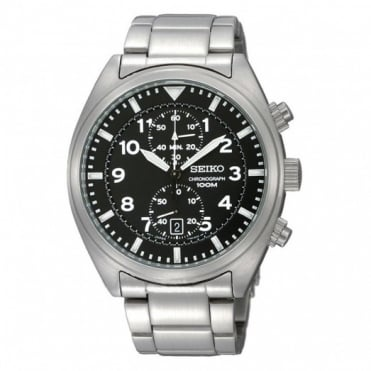 Seiko Gents S/Steel Chronograph Watch SNN231P1
