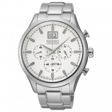 Seiko Gents S/Steel Chronograph Watch SPC079P1