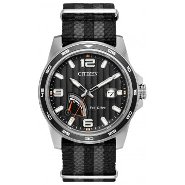 Gent's S/Steel Nato Strap Eco-Drive Watch AW7030-06E