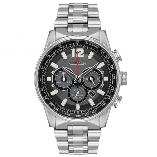 Gent's S/Steel Nighthawk Chronograph Eco-Drive Watch CA4370-52E